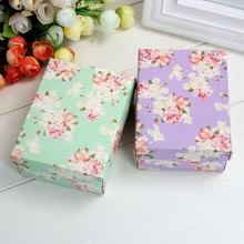 500pcs Pastorale Style Flower Large Paper Candy Boxes for Wedding Favours Gifts Box Baby Shower Goodie Bag Gift Package