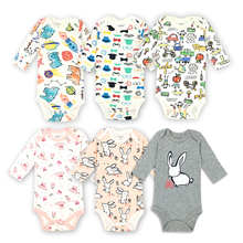 3pcs lot Baby Bodysuits 100%Cotton Long Sleeves Baby Boys Girls Clothing Set Infant Jumpsuits Babies Tights Newborn Baby Clothes