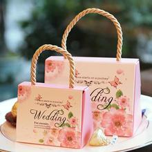 6 colors Love Candy Box Bridal Wedding Packaging Creative Sweets Boxes gift bag party supplies A5