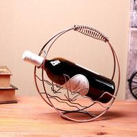 High Grade Europe Classic Circle Wine Rack Creative Household Table Decoration Wine Holder Free Shipping