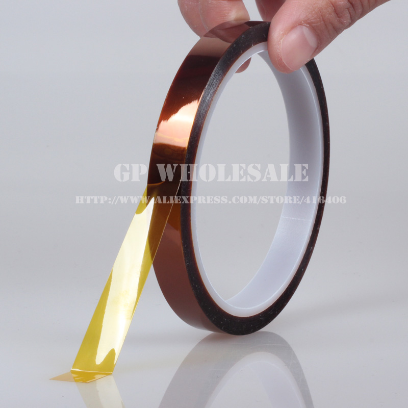 Free shipping! 36mm*33 meters, 0.06mm High Temperature Resist Tape for Chip Solder, PCB Masking, SMT Protecting free shipping  32mm 33 meters  0 06mm