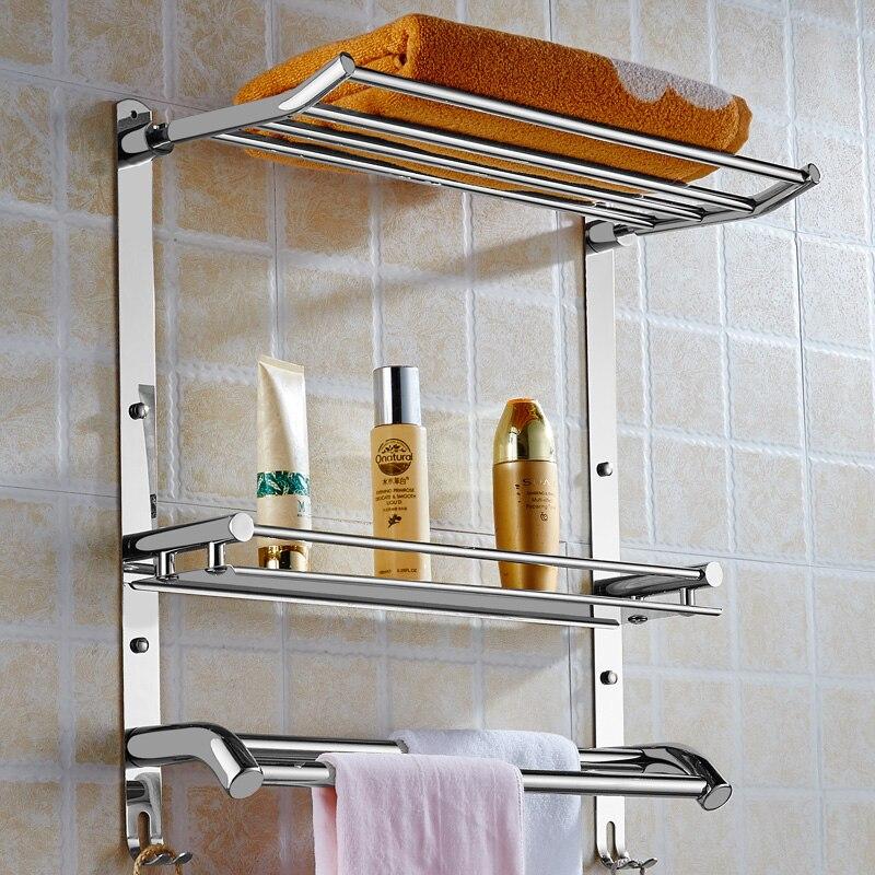 Wall mounted bathroom shelf Stainless steel bathroom towel rack ...