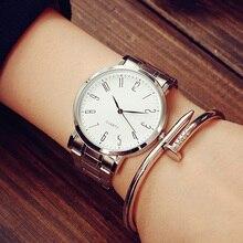 Newly Design stainless steel watch Men simple Fashion Women casual slim waterpro