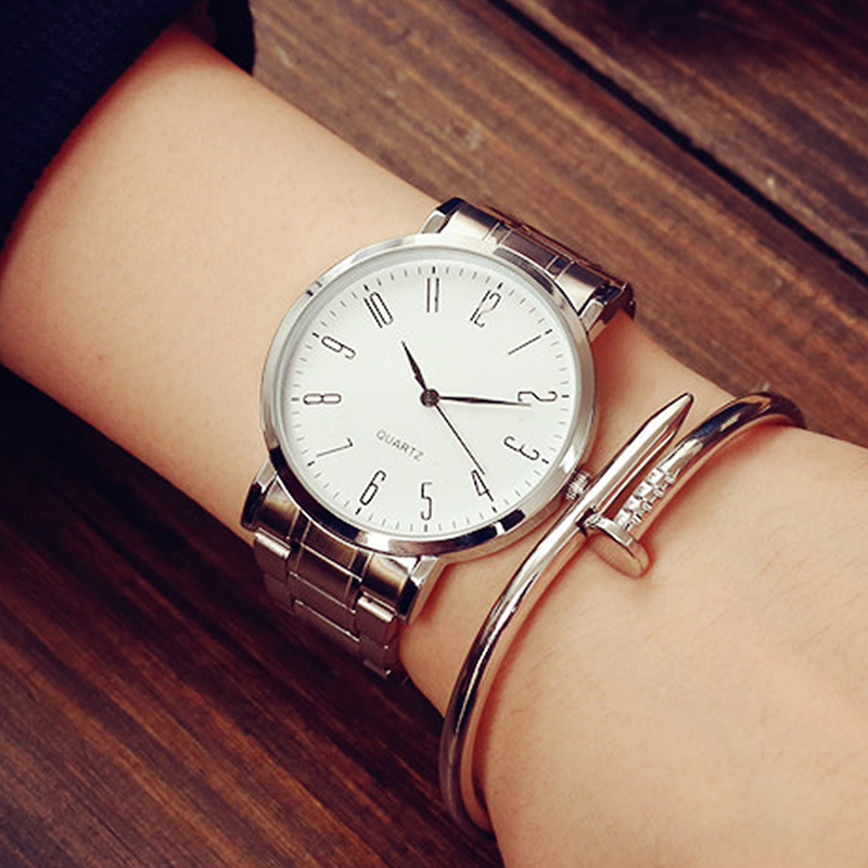 Newly Design Stainless Steel Watch Men Simple Fashion Women Casual Slim Waterproof Couple Quartz-watch Outdoor Sports Watches