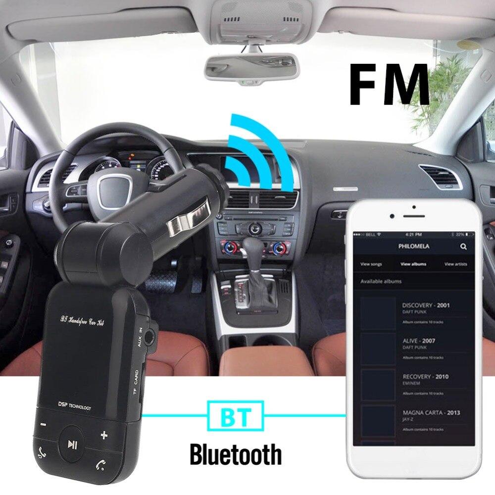 VEHEMO 78dB Bluetooth автомобильный набор, свободные руки, FM передатчик Bluetooth Автомобильный MP3-плеер стерео музыка автомобильные аксессуары для fm-модулятор с разъемом подачи внешнего сигнала AUX