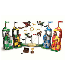 Harri Potter Movie 536pcs Magic Quidditch Match Model Set Building Blocks Kids Toys Compatible With Legoing