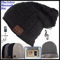 Bluetooth Wireless 3.0 V Gorro de Punto, Además de Terciopelo Invierno Sombrero Auricular Altavoz Micrófono Manos libres de Música Mp3 Deportivo Magia Tapa inteligente