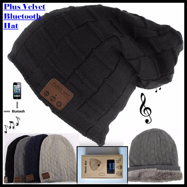 3f8e695d305 Wireless Bluetooth V4.2 Beanie Knitted Plus Velvet Winter Hat Headset  Speaker Mic Hand-free Music Mp3 Magic Smart Cap