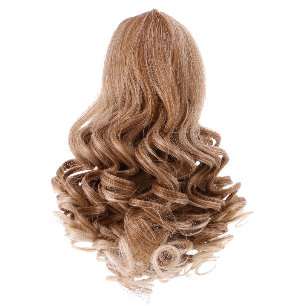 2 Set Gradient Wavy Curly Hair Wig for 18inch AG American Doll Doll DIY Making
