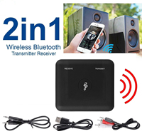 Wireless Adapter Bluetooth V4.2 Transmitter & Receiver Wireless A2DP Audio 3.5mm Aux Adapters Hub A6