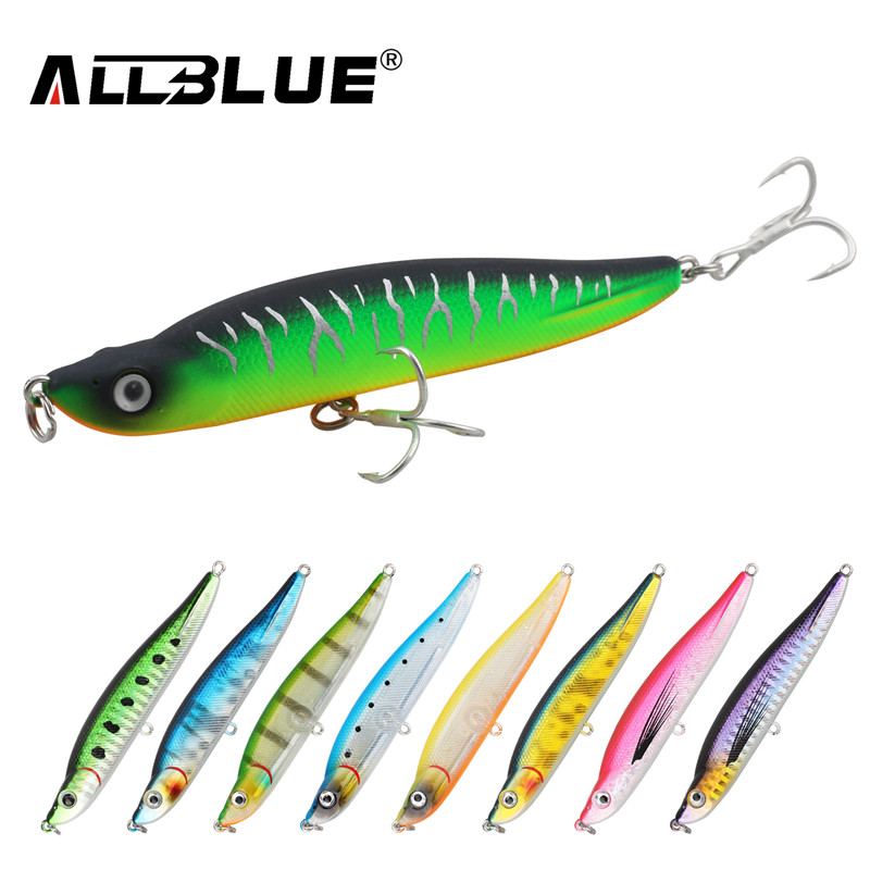 ALLBLUE Longcast Sinking Fishing Lures 95mm/15g All Depth Pencil Lure Minnow Wobblers Hard Baits Peche Fishing Tackle