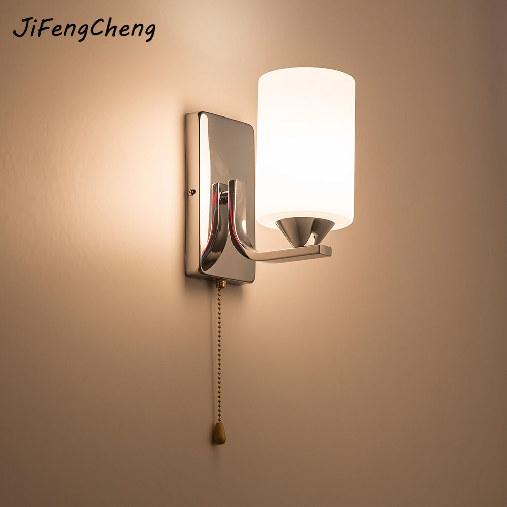 Mur Lampes Intérieur Chambre Simple Style Appliques Murales Applique Murale Lampe Literie Lampe Luminaria Creative Escalier Salon Lampe