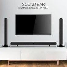 TV Soundbar Bluetooth Lautsprecher Drahtlose Stilvolle Stoff Sound Bar Hifi 3D Stereo Surround Unterstützung RCA AUX HDMI Für Heimkino