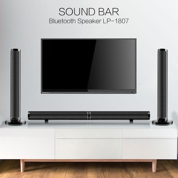 TV Soundbar Bluetooth Speaker Wireless Stylish Fabric Sound Bar Hifi 3D Stereo Surround Support RCA AUX HDMI For Home Theater
