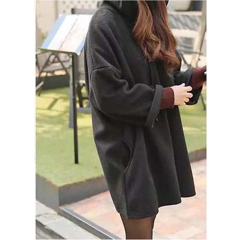 Womens Furry Cotton Patchwork Velvet Oblique High Neck Sweater Shirt Tops Blouse