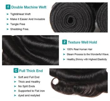 Allove Body Wave Bundles Malaysian Hair Bundles 100% Human Hair Bundles 1 3 4 Bundles Deals Malaysian Body Wave Hair Non Remy 3