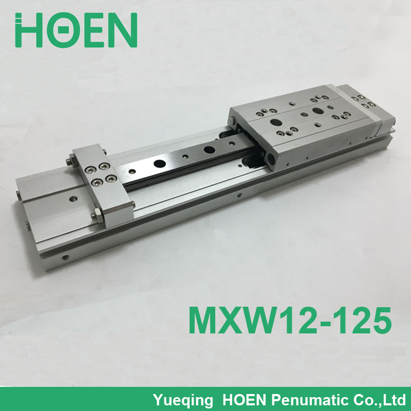MXW 12-125 Slide Cylinder Air Slide Table Series MXW SMC cylinder pneumatic air cylinder High quality mgpm63 200 smc thin three axis cylinder with rod air cylinder pneumatic air tools mgpm series mgpm 63 200 63 200 63x200 model