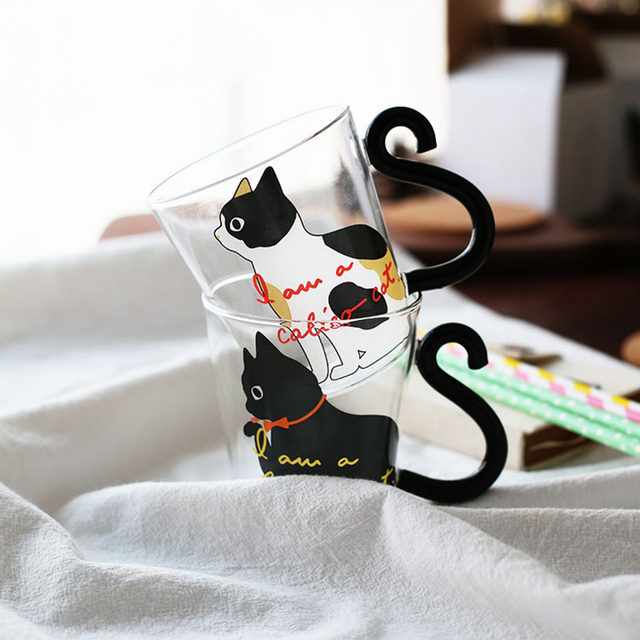 Cute CreativeKitty Glass Mug