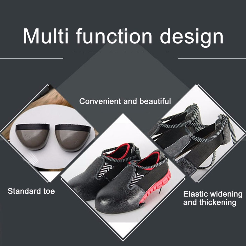 Anti-smashing Slip-resistant Unisex Steel Toe Safety Shoes Cover Universal Industry Protective Overshoes labour working steel toe cap shoes cover tigergrip visitortg03 rubber non slip safety protection overshoes for man and woman