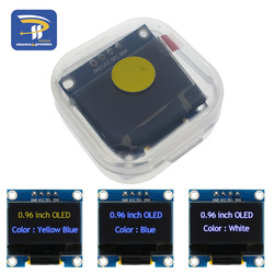 4pin White and Blue color 0.96 inch 128X64 Yellow Blue OLED Display Module For Arduino GND VCC SCL SDA 0.96 IIC SPI Communicate
