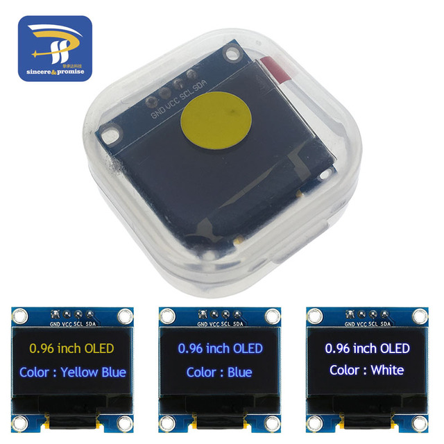 """4pin White and Blue color 0.96 inch 128X64 Yellow Blue OLED Display Module For Arduino GND VCC SCL SDA 0.96"""" IIC SPI Communicate"""