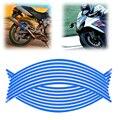 """New 18 """"tiras de bicicleta moto carro roda pneu rim adesivos e decalques autocolantes decoração 16 pcs para harley yamaha honda suzuki"""