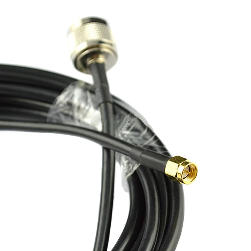 LMR195 Silver N FEMALE BULKHEAD to N MALE Coax RF Cable USA Lot