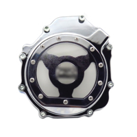 Aftermarket free shipping motorcycle accessories Engine Stator cover see through for Suzuki 2005 2006 2007 2008 GSXR 1000 CHROME