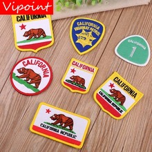 VIPOINT embroidery rhinoceros bear patches animal badges applique for clothing YX-303