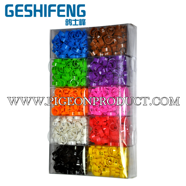 free shipping 7000pc 8mm plastic clip open ring numbered 1-100 pigeon ring