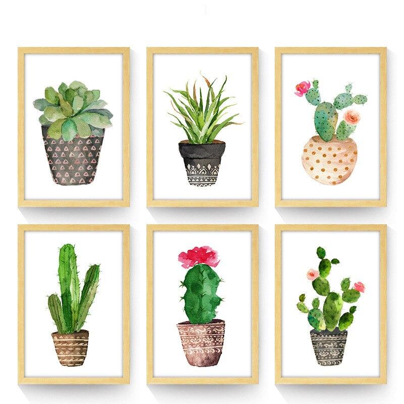 ᐂnordique Plante Verte Jardin Murale Art Print Affiche Mur Photos