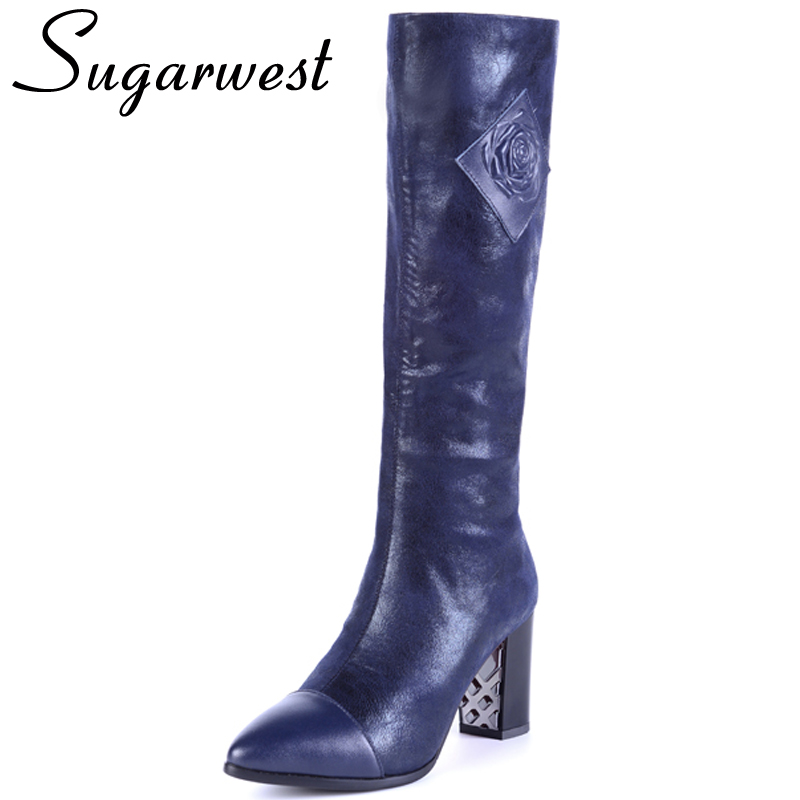aliexpress buy sugarwest genuine leather knee high
