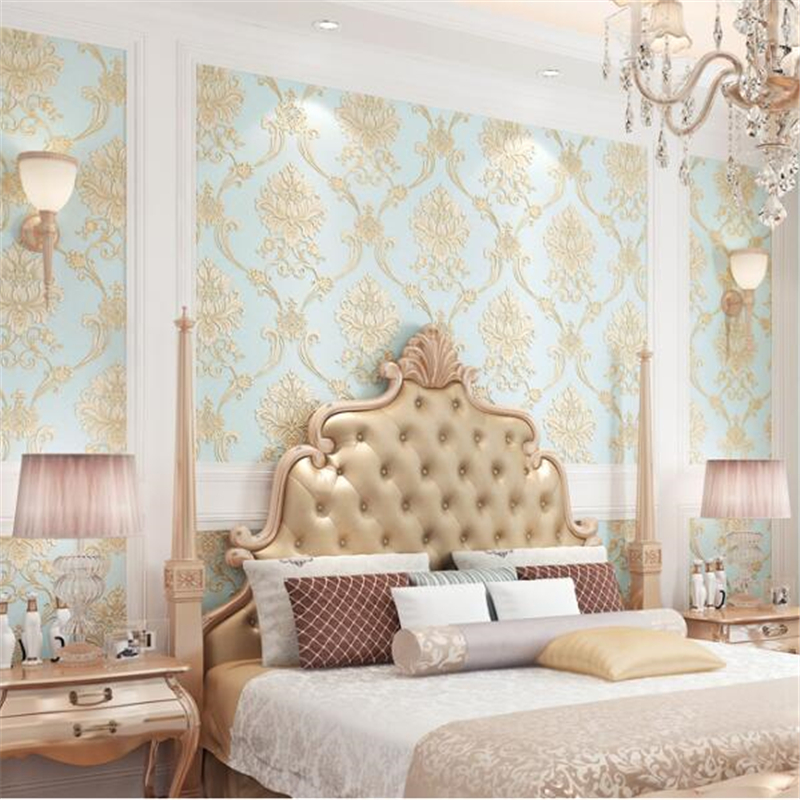 beibehang  European non-woven wallpaper simple 3d stereo living room bedroom background striped wallpaper AB with models tapety beibehang blue wallpaper non woven