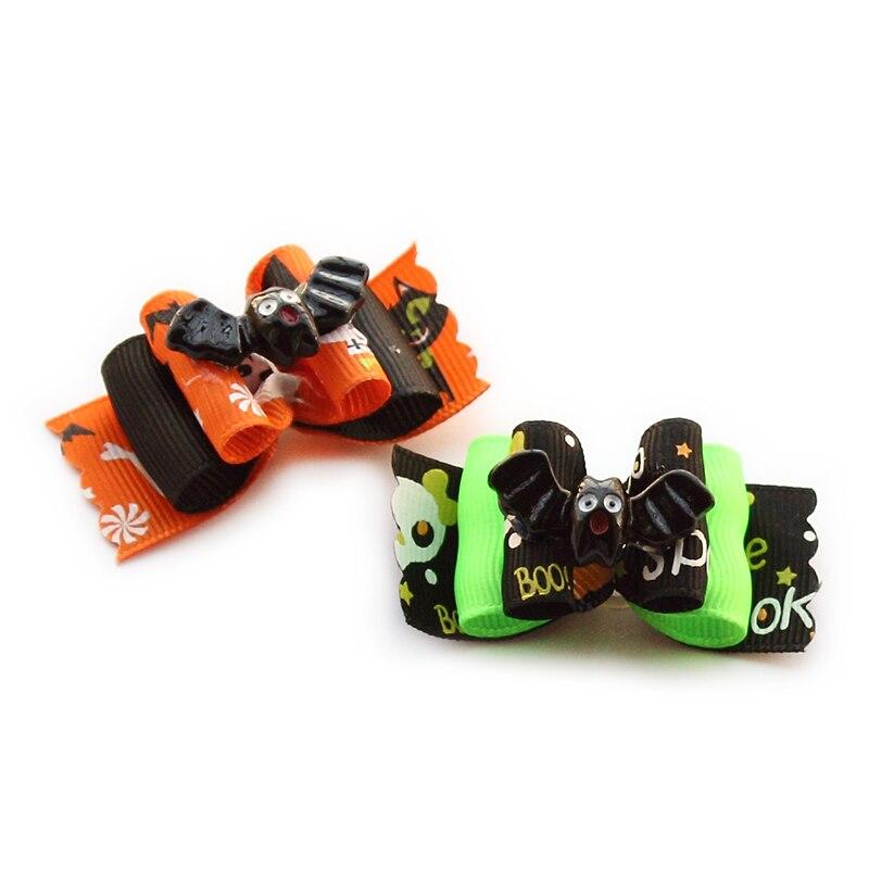 armi store handmade black bats decoration dog bow - Halloween Supply Store