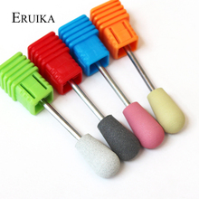 ERUIKA 4pc/set 10*18mm Silicon Rubber Nail Drills Bits Nail Buffer Big Round Head Nail Polishing Cutters for Manicure Tools