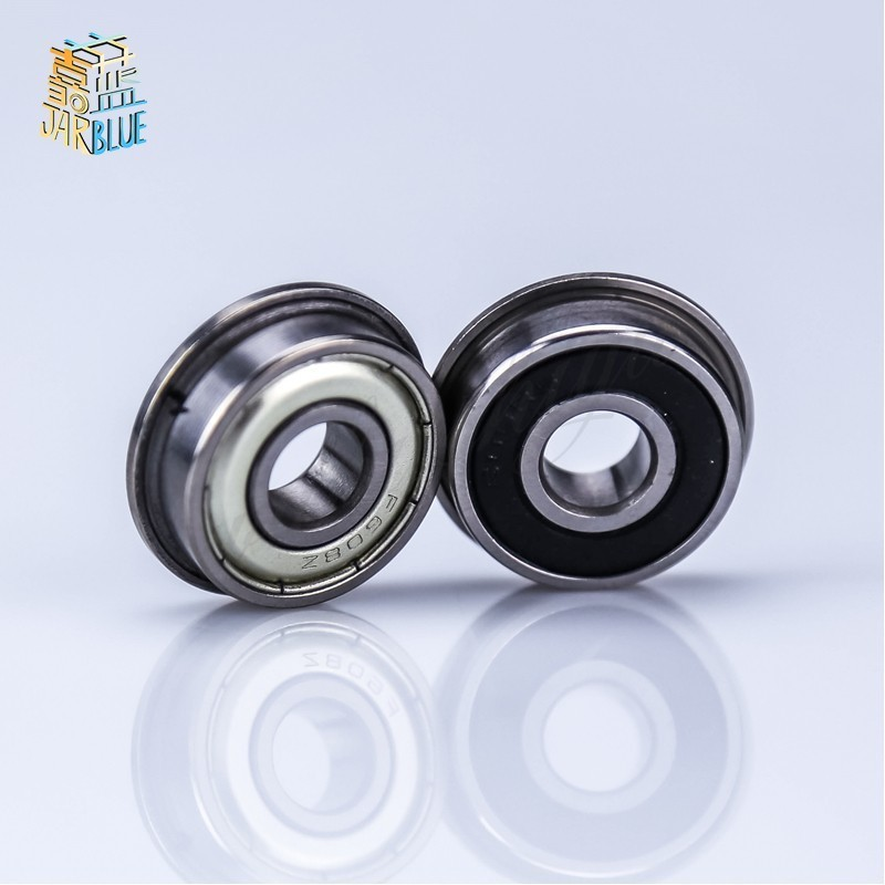 Flange12.7x28.525x7.938mm 10pcs Mini Flanged Balls Bearing High Precision Abec-3 Z2v1 Fr8-2rs 1/2