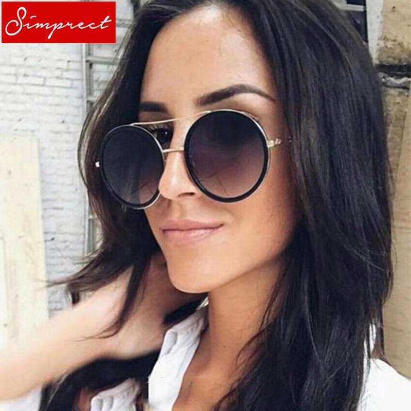 b6b6a4b537d624 SIMPRECT Najmodniejsze Okulary dla Kobiety Luksusowe Okulary  Przeciwsłoneczne Retro 2019