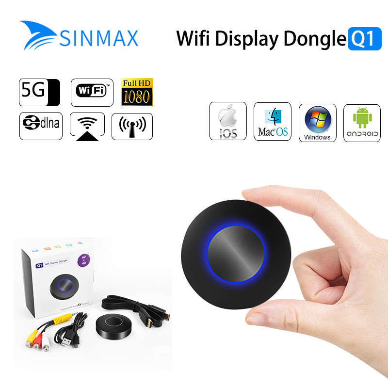 2018 Q1 Miracast TV-Stick WIFI Display Dongle HDMI 1080 P TV-Stick WIFI Anzeigen Receiver Dongle Für IOS Andriod windows