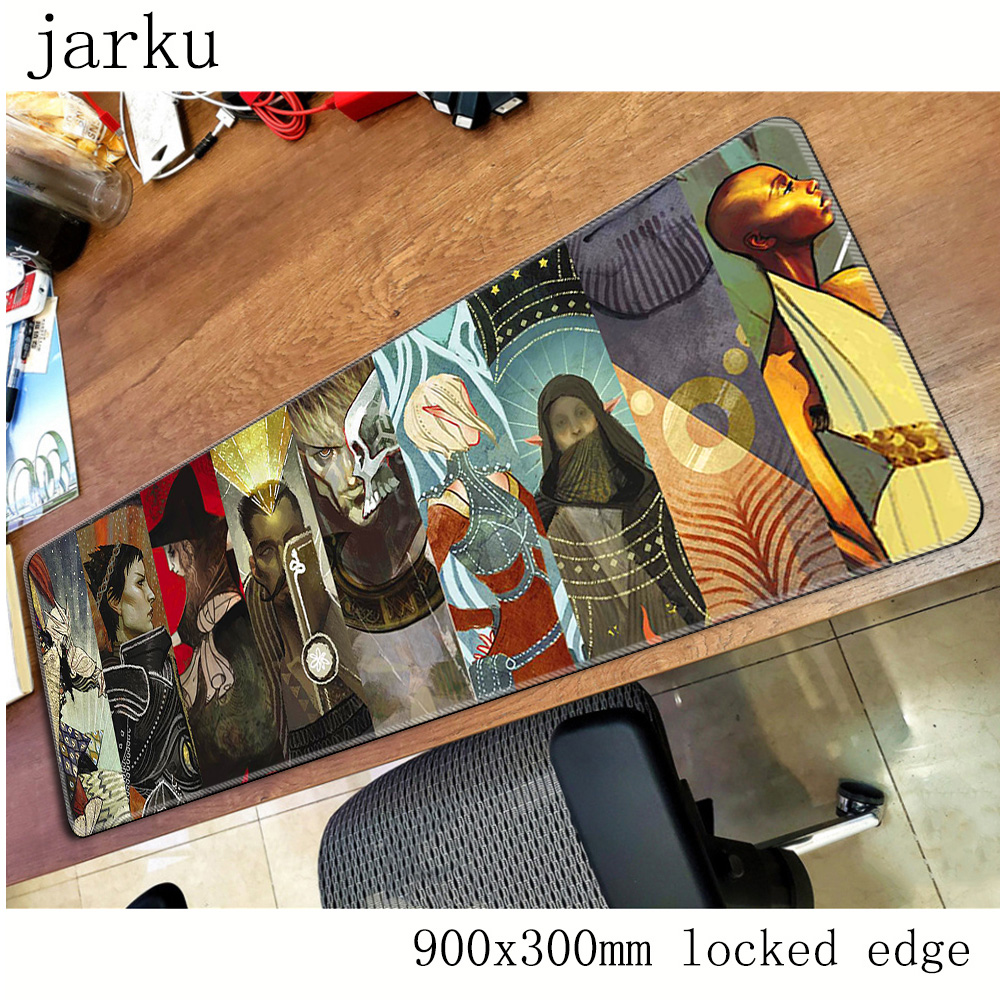 dragon age mouse pad gamer 900x300mm notbook mouse mat large gaming mousepad large cheapest pad mouse PC desk padmouse Mouse Pads    - title=