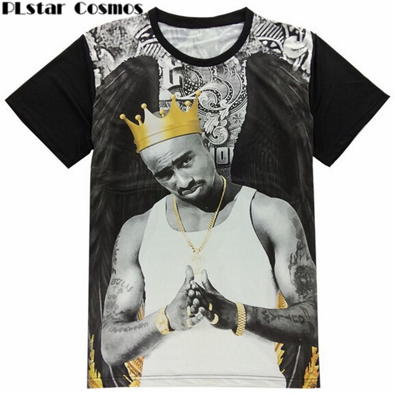 99dc2123d09f PLstar Cosmos Moda Verão camiseta mulheres/homens 3d camiseta rap 2pac  padrinho t shirt Unisex Tee Tops camisa masculina tamanho M XXL em Camisetas  de Dos ...