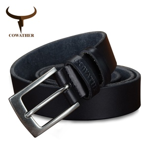 Image 2 - COWATHER top cow genuine leather men belts 2019 newest arrival three color hot design jeans belt for male original brand