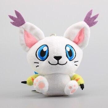 Digimon Adventure Tailmon Plush Pendant Toy Digimon Tailmon Cute Mini Stuffed Dolls 11 CM