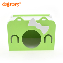 Stylish Portable Woody Small Pet Hamster Cages Cute Kitty Pattern  Hamster Nest New Style Pet Hamster Toy  Practical Bedrooms