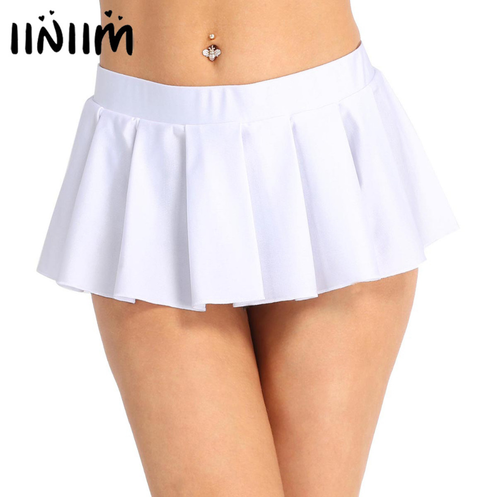 Women Schoolgirl Low Rise Comfortable Pleated Mini Skirt Party Nightwear Clubwear Costume Party Performance Sexy Skirts