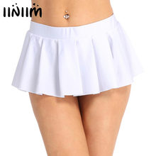7e3d501fed Women Schoolgirl Low Rise Comfortable Pleated Mini Skirt Party Nightwear  Clubwear Costume Party Performance Sexy Skirts