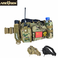 Outdoor Multifunctional Cycling Waist Pack Army Fans Tactical Waist Pack Sport Running Kettle Hunting Waist A4850
