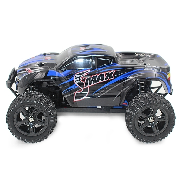 все цены на r 1/16 2.4G 4WD Brushed Off-Road Monster Truck SMAX RC Remote Control Toys With Transmitter RTR Car Toy For Kid онлайн