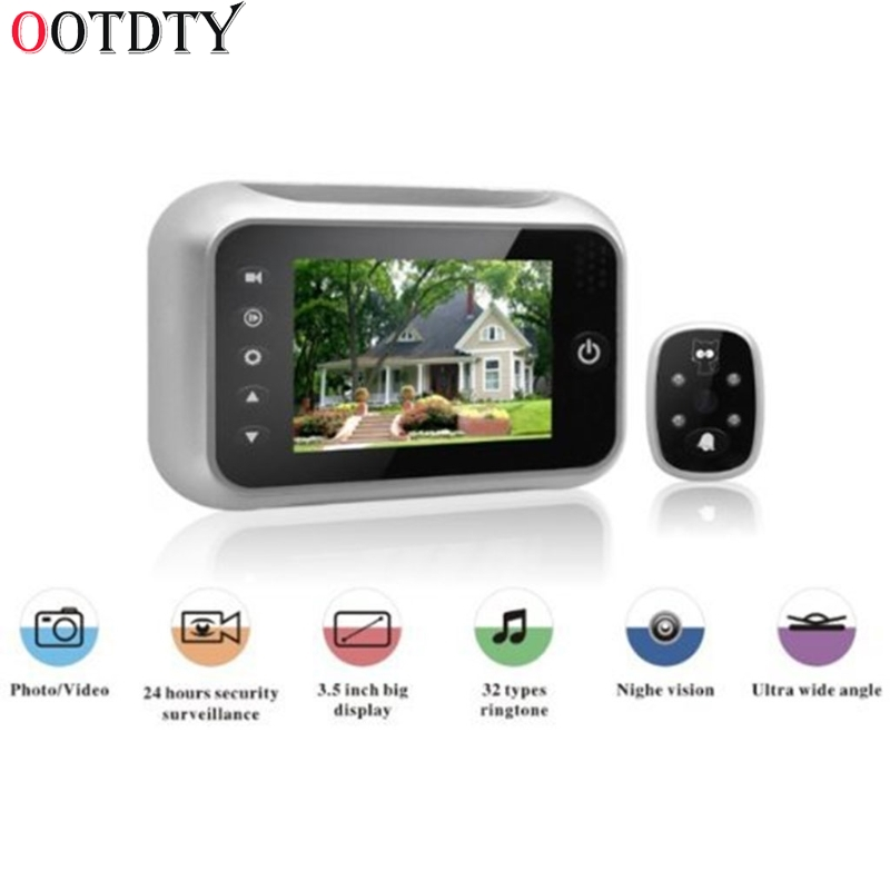 3.5 LCD T115 Color Screen Doorbell Viewer Digital Door Peephole Viewer Camera Door Eye Video record 120 Degrees Night vision 4 3 lcd color screen doorbell viewer digital door peephole viewer camera door eye video doorbell 145 degrees security camera
