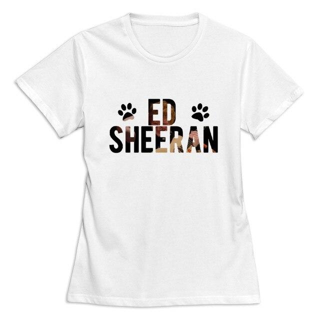casual Ed Sheeran women t shirt Design Own Short-Sleeve t-shirt women 3c3d4b7c4