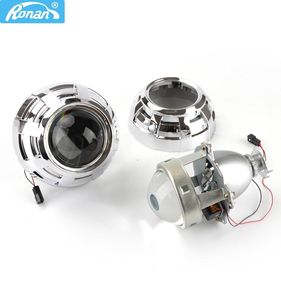 RONAN voiture style mise à niveau métal 3.0 H1 Pro HID Bi xénon projecteur lentille LHD RHD phare costume pour H4 H7 avec 3.0 pouces haubans